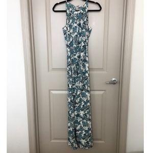 LOFT Blue Paisley Maxi Dress